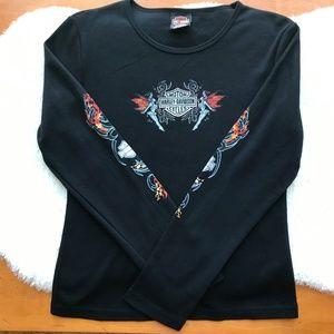 Harley-Davidson Black long Sleeve Tee Nevada Sz XL